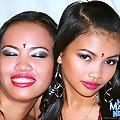 Pinay girls Yvonny and Leanne having lesbian fun