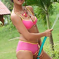 Thai Cutie Cherry Bikini Water Hose Play