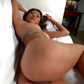 Cute Asian Nana playing with her body in her bed