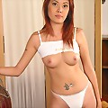 Tik Strips White Undies And Poses Nude