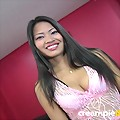 Submissive Thai cutie Visa gets her tiny pussy stretched open!