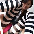 Drop dead gorgeous Asian teen posing
